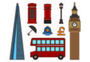 Set di icone di Londra vettore