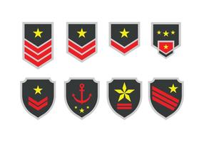 Vettore di emblema dell'esercito libero