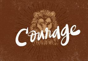disegno del leone retrò