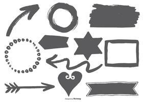Elementi di vettore di stile disegnato a mano