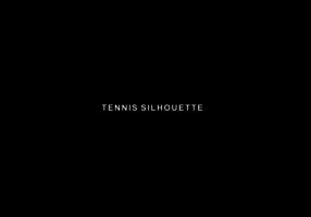Vettore della siluetta dei giocatori di tennis