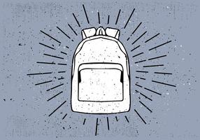 Fondo disegnato a mano libera di vettore del sacchetto di viaggio
