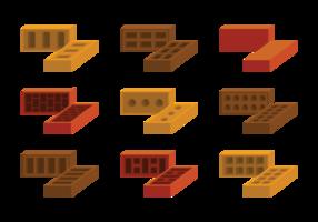 Vettore delle icone della muratura