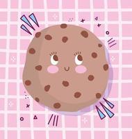 simpatico personaggio dei cartoni animati cookie design