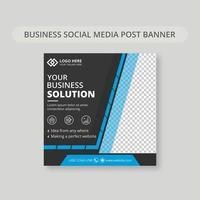 banner di post sui social media blu e grigio