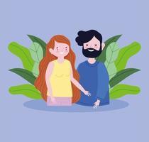 madre e padre nella natura del fogliame vettore