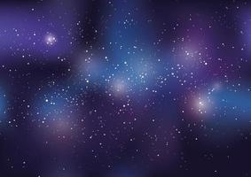 sfondo dell'universo pieno di stelle e nebulose vettore