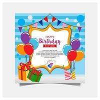 buon compleanno celebrazione poster design vettore