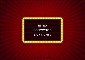 vettore luci del segno di hollywood
