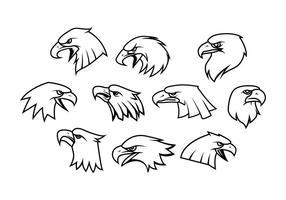 Loghi Eagle Mascot vettore