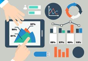 Vettore di infografica piatto grafico