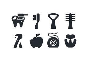 Icone di cure odontoiatriche vettore