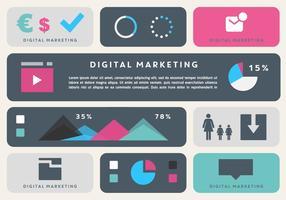 Elementi di vettore di affari di marketing digitale gratis