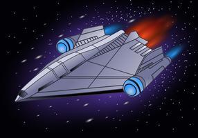 Illustrazione di astronave vettore