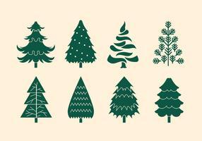 Insieme vettoriale di alberi di Natale o Sapin