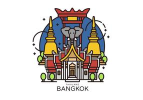 Illustrazione di vettore del punto di riferimento di Bangkok