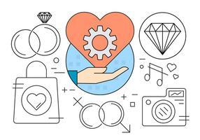 Icone di fidanzamento vettore