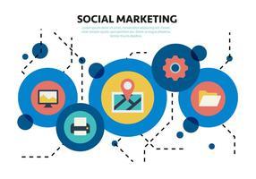 Free Social Media Marketing Elementi vettoriali