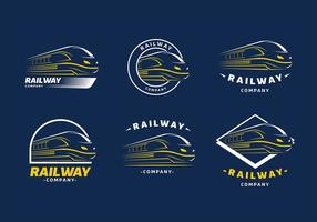 Treno Logo Template vettoriali gratis