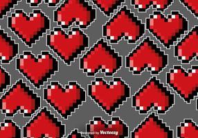 Reticolo senza giunte dei cuori di Pixelated di vettore