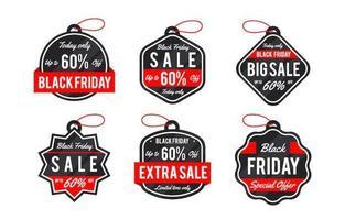 collezione di etichette di vendita del venerdì nero classico