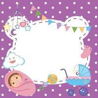 cornice tema baby shower vettore