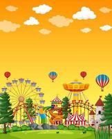 scena del parco di divertimenti durante il giorno