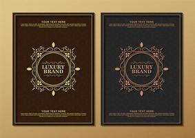 set di biglietti di auguri ornamento di lusso vettore