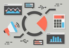 Vettore piano di concetto di vendita digitale