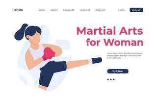 arti marziali per la pagina di destinazione della donna
