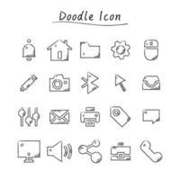 doodle icone di affari