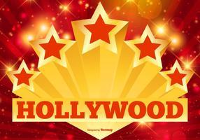 Illustrazione di stelle e luci di Hollywood vettore