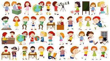 set di personaggi dei cartoni animati per bambini