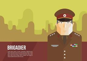 Generale di brigata Background Vector