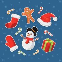set di etichette adesive natalizie