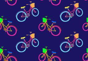 Illustrazione senza cuciture di vettore del modello di Bicicleta libero