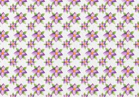 Reticolo di fiori viola dell'acquerello di vettore gratuito