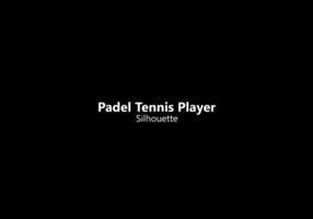 Silhouette di giocatore di tennis padel