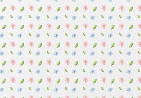 Modello di fiori primavera acquerello vettoriale