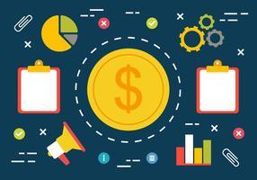 Illustrazione vettoriale di marketing digitale gratuito