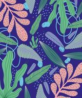 foglie tropicali e fogliame sullo sfondo