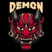 disegno della mascotte della maschera del demone