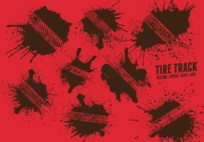 Set di tracce di pneumatici vettore