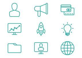 Icone della linea di business vettore
