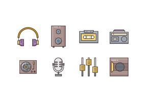 Icone musicali gratuite vettore