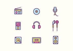 Icone musicali vettore