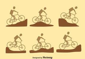 Vettore della traccia della bici di montagna