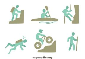 Set di sport estremi vettore