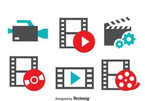 Film Film icone vettoriali