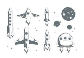 Vettore di nave stellare gratis